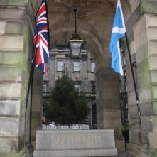 Scottish and UK flag
