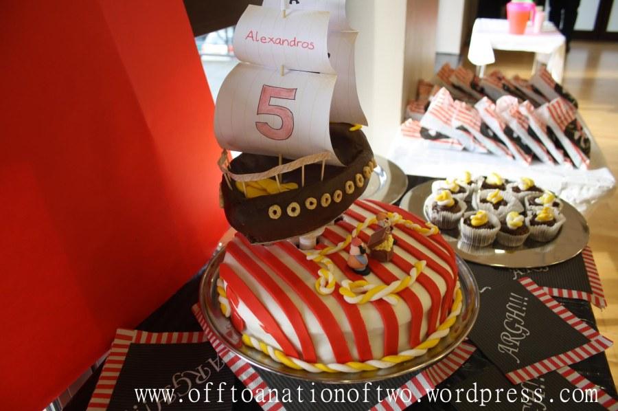 PirateTheme Birthday Cake