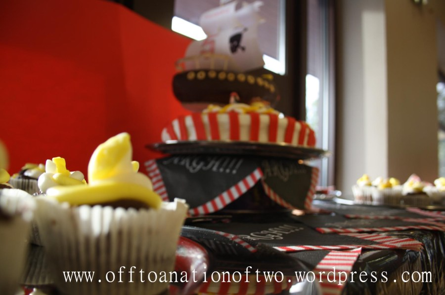 PirateTheme Party cupcakes