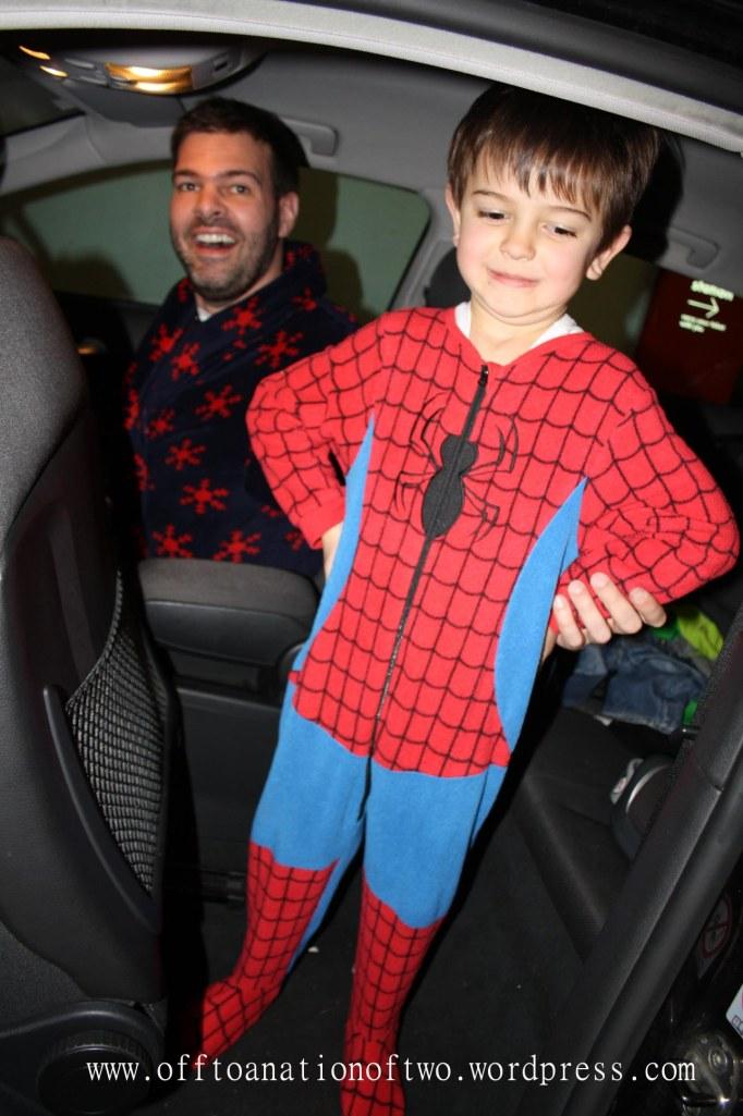 Xmas 2013 Xmas Pyjama drive Spiderman