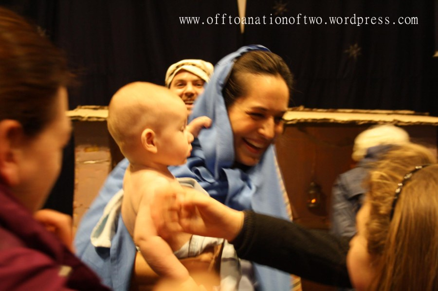 Blackheath Standard Live Nativity Jesus and Mary