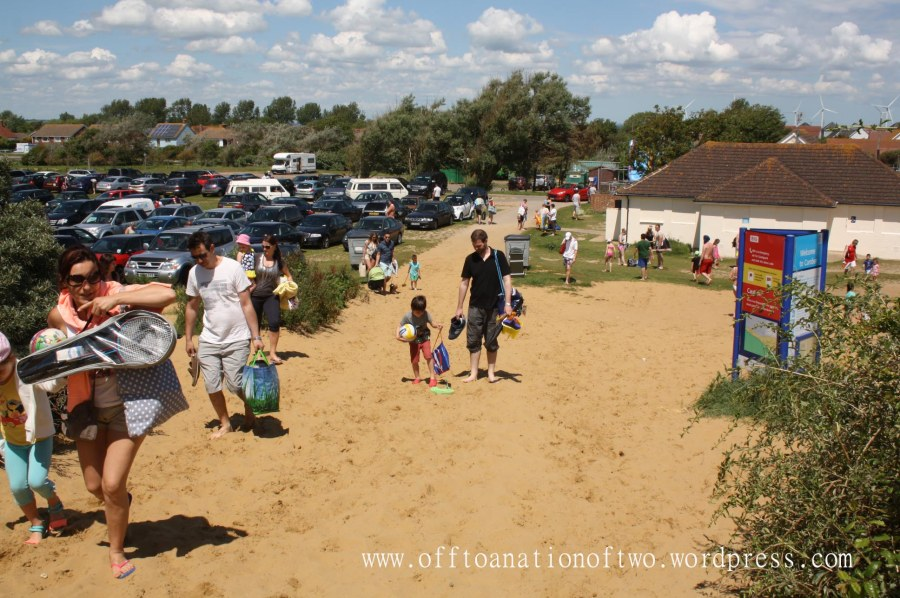 Arriving at Camber Sands